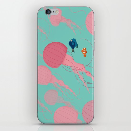 Just Keep Swimming iPhone & iPod Skin