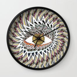 Origami Chakra Eye - Golden Hazel Wall Clock