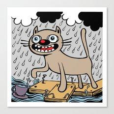 RAIN CATS Canvas Print