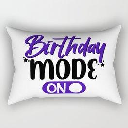 Birthday Mode Rectangular Pillow