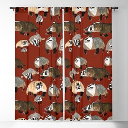 Western American Badger Blackout Curtain
