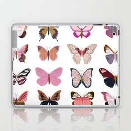 Pink Butterflies Laptop & iPad Skin