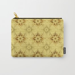 Gold on Gold Ornament Pattern Carry-All Pouch