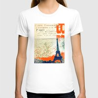 paris map T-shirts featuring Paris by Kimball Gray