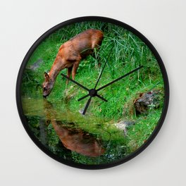 Little roe deer Wall Clock