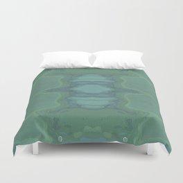 Art Nouveau Green Panel Duvet Cover
