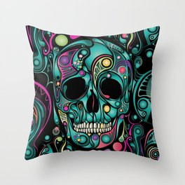 Skull Camouflage Throw Pillow