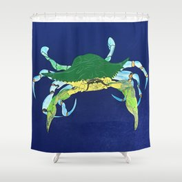 Crab Collage Shower Curtain
