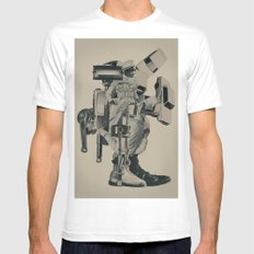 The Menace of Any Shadow White Mens Fitted Tee MEDIUM