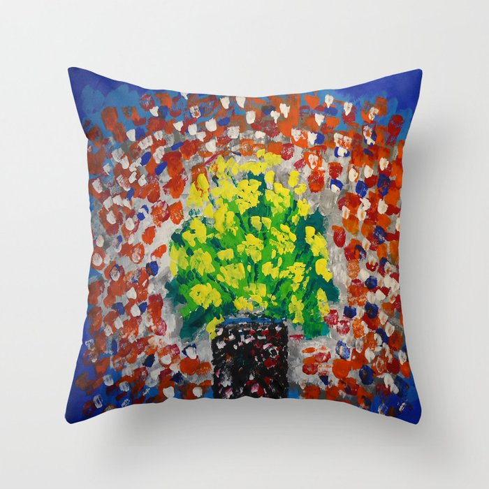 Yellow Flowers #54 Throw Pillow