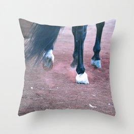 Hoof Beats Throw Pillow