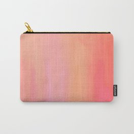 Adrenaline Rush Subsiding: Red Abstract Oil Painting with Streaks and Lines Carry-All Pouch