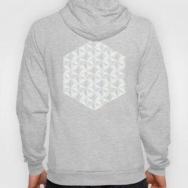 White geometry Hoody