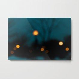 Blurry Night Metal Print