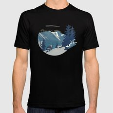 Mountain Sunrise (Pause II) LARGE Black Mens Fitted Tee
