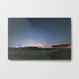 Moonset Reworked Metal Print