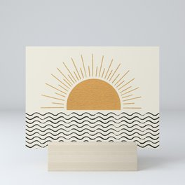 Sunrise Ocean -  Mid Century Modern Style Mini Art Print