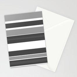 Simple Modern Stripes - Monochrome Black White Stationery Cards