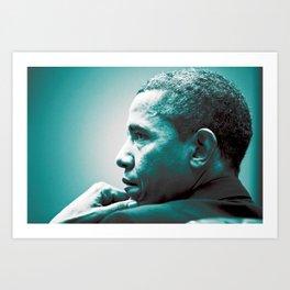 Barack Obama at White House 2 Art Print