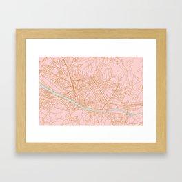 Firenze map Framed Art Print