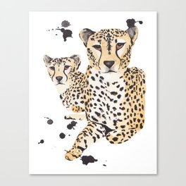 Cheetah Twins Canvas Print