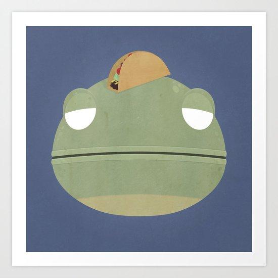 Taco Lizard Art Print