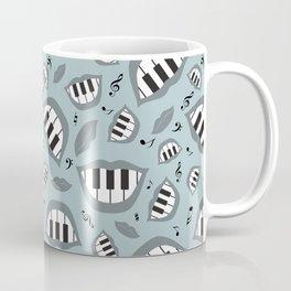 Piano smile pattern in grey Coffee Mug