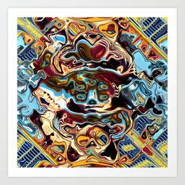 Chaotic Abstract Conglomeration Art Print