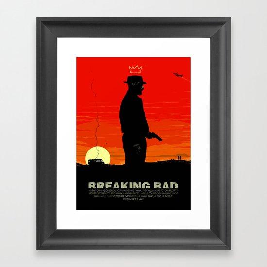 Break Bad - Heisenberg Framed Art Print