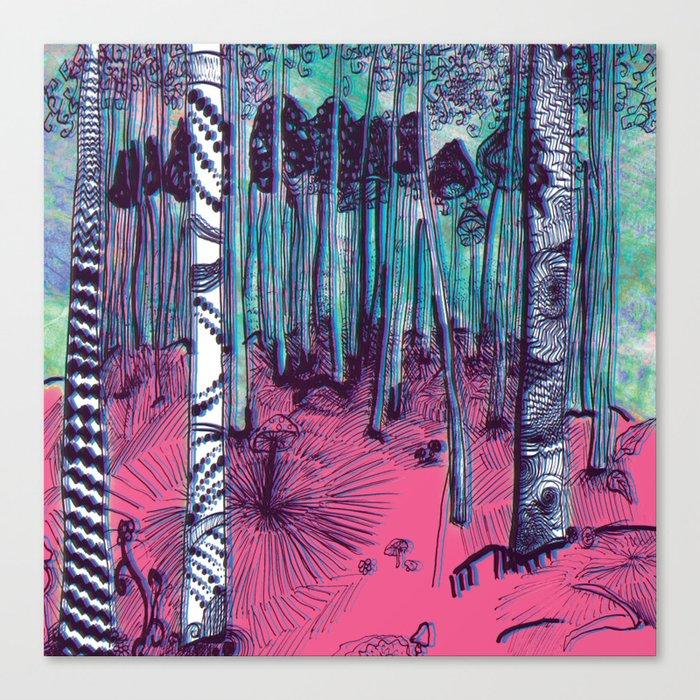 Hunter on Shrooms Canvas Print