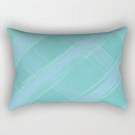 Mint Plaid Rectangular Pillow