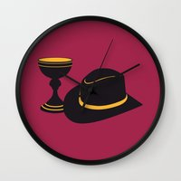 indiana jones Wall Clocks featuring Indiana Jones and the Last Crusade by FilmsQuiz