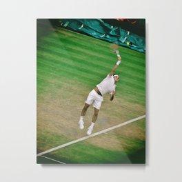 Roger Federer Tennis Wimbledon Centre Court Serve Metal Print