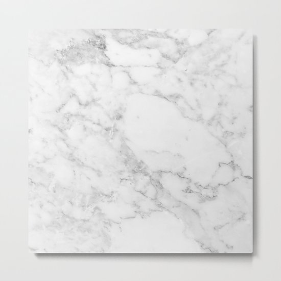 White Marble Edition 2 Metal Print