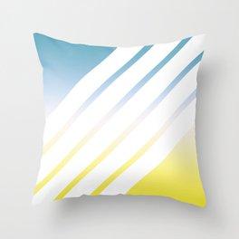 Gradient White Stripes Throw Pillow