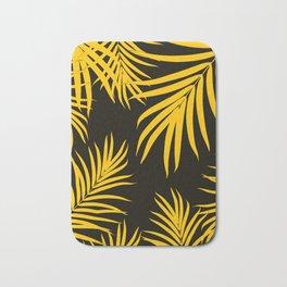 Palm Leaves Pattern Yellow Vibes #1 #tropical #decor #art #society6 Bath Mat