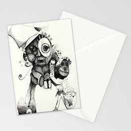 The Mad Hatter B&W Stationery Cards