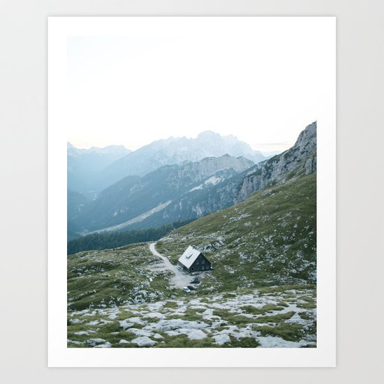 Mountain hut - Julian Alps, Slovenia | mountains - landscape - photography - travel - europe - hike Art Print
