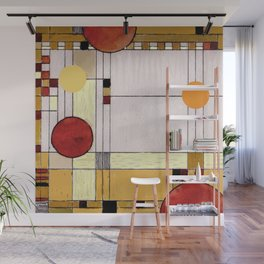 Astratto Rosso Wall Mural