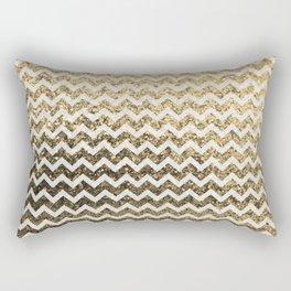 Glitter Sparkly Bling Chevron Pattern (gold) Rectangular Pillow