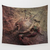 crab Wall Tapestries featuring Crab Nebula by Distortion Art