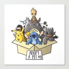 Adopt a pet Canvas Print