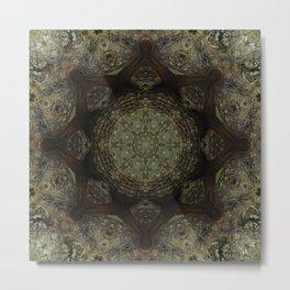 Mandala in the Woods 3 Metal Print