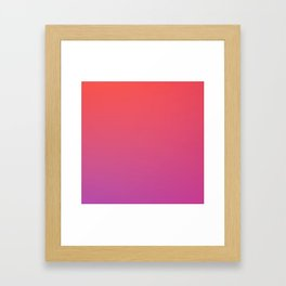 SPECIAL MOMENT - Minimal Plain Soft Mood Color Blend Prints Framed Art Print
