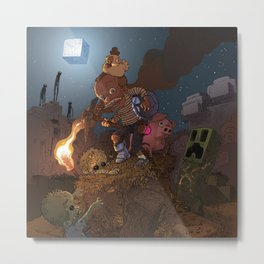 Night outside the Mine Metal Print
