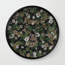 Canine Camo WOODLAND Wall Clock