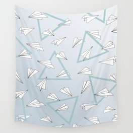 Paper Planes - Blue Wall Tapestry