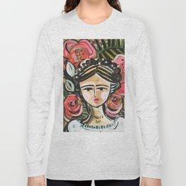 """Portrait """"Mexican Girl"""" Face art Long Sleeve T-shirt"""