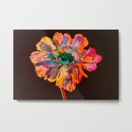 Psychedelic Floral Dew Metal Print