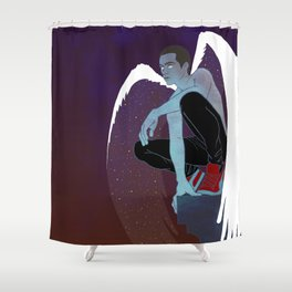 Red-Shoed Angel Shower Curtain